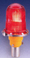 model 810s red aviation obstruction light designed to mark tall structures, typical applications include water towers and cell phone towers