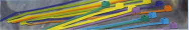 cable wire tie ties color colors brown red orange yellow green blue gray