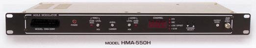 rack mounted 550 mhz commercial grade frequency agile modulator hma-550h for head-end head end systems