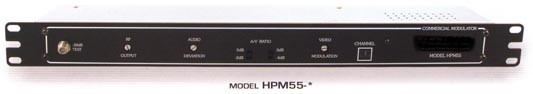 fixed channel head-end head end rack mounted modulator hpm55