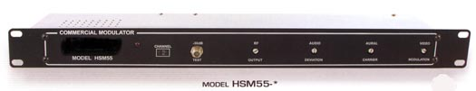 rack mounted fixed channel modulator with additional saw filtering hsm55