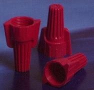 EASY-TWIST™  WINGED WIRE CONNECTOR RED twist-on plastic twist on easy twist nsi RED 18 8 AWG