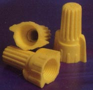 EASY-TWIST™  WINGED WIRE CONNECTOR YELLOW WIRE RANGE: MAX: 3 #12    MIN: 2 #18 twist-on twist on plastic